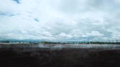 Steam coming from ground (Louish Pixel) Tags: weather steam hot springs saratogasprings utah hotsprings utahlake