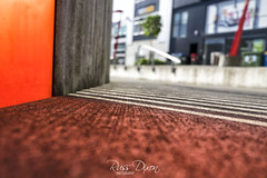 Red Down Low (Russ Dixon Photography) Tags: russdixon russdixonphotography newzealand newplymouth taranaki urban abstract red shadows fujixe2