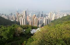 Skyline from Victoria's Peak (twomphotos) Tags: hongkong china asia urban big city trail hiking victorias peak viewpoint