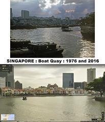 Singapore Boat Quay: Then & Now No.1 : 1976 & 2016 (Brit 70013 fan) Tags: singapore boat boatquay 1976 2016 thennow lighters tourism development