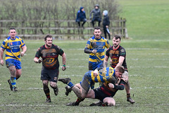 Over he goes (Steve Barowik) Tags: yorkshire westyorkshire nikond500 barowik leeds ls26 stevebarowik sbofls26 rugbyleague rl nationalleague 70200mmf28gvrii sport competition try conversion penalty sinbin referee linesman ball pitch sticks posts team watercarrier dx cropframe kick pass offload dropkick forwardpass centre wing prop forward back fullback unlimitedphotos wonderfulworld quantumentanglement oultonraiders shawcrosssharks challengecupsecondround