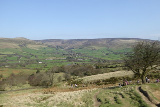 View back towards Edale and the hills behind it
