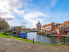 Enkhuizen (✦ Erdinc Ulas Photography ✦) Tags: enkhuizen city netherlands holland dutch landscape focus view grass water boat tower houses building house tree fishing sky clouds blue bricks nederland panasonic pole street traditional culture travel stone old drommedaris gate historic