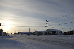 Street view of an arctic community and neigbourhood, located in Arviat (Blue Tale) Tags: snow road winter ice arctic cold street intersection travel north nunavut northern inuitcommunity inuit community town building buildings streets canada canadian polar coastalcommunity coastal centralarctic inuittown isolated journey outdoors sky outdoor native northerntown place tourism white structure structures covered small smallcommunity village alone lonely villagescene arcticvillage city streetscene blue wayoflife