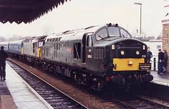 BR-37216-GreatEastern-D6916-Woodbridge-HRTWaveney&WensumWanderer-090193ib (Michael Wadman) Tags: 37216 woodbridge greateastern d6916 waveneywensumwanderer britishrail class37