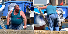 Untitled-1 (Kilted sausage productions) Tags: boat large man belly vest mature cuddly bear bulge bald older