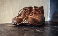 Memories of Peter the goatherd (PeterThoeny) Tags: seewis prättigau graubunden graubünden grisons switzerland alps swissalps shoes boots vintage vintageboots vintageshoes indoor sony sonya7 a7 a7ii a7mii alpha7mii ilce7m2 fe2870mmf3556oss 1xp raw photomatix hdr qualityhdr qualityhdrphotography fav200