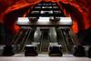 Solna Centrum (nicolas.vogt) Tags: solna centrum stockholm architecture subway metro suede sverige sweden elevator voigtlander35mm17ultron sony sonyalphadslr a7ii a7m2 flickrunitedaward flickrunited ilce7m2 station urban perspective red escalator stairs voigtländer