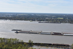 BARGE ON THE MISSISSIPPI (SneakinDeacon) Tags: louisiana statehouse capitol batonrouge scenicview observationdeck mississippiriver
