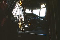 Cockpit C-160 Transall Bundeswehr SXF 1998 (rieblinga) Tags: cockpit c160 transall bundeswehr luftwaffe tag der offenen tür flughafen schönefeld sxf 1998 analog revue ac6 af agfa rsx 100 diafilm