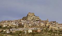 Morella. Castellon, Spain (mtm2935) Tags: knightstemplarios knightstemplarfortress medievaltown hilltown castle fortresswall fortress morella landscape city sky road building