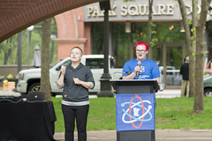 Speaker at Rally for Science (Fibonacci Blue) Tags: stpaul protest science minnesota rally marchforscience environment demonstration green marchforsciencemn event twincities speaker student activist activism ecology ecological