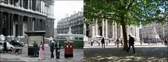 St Paul`s`1961-2018 (roll the dice) Tags: london squaremile city ec4 mad sad surreal old local history changes collection canon tourism tourists streetfurniture architecture retro bygone nostalgia comparison oldandnew pastandpresent hereandnow urban indian england fashion map pillarbox mail traffic coach dome people rfwcoach cars wren pretty amazing bombs anglican bollards travel transport trees sixties entrance steps pawsonsandleafs condorhouse