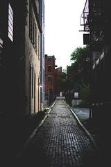 Alley mood (joshhansenmillenium) Tags: modeling theme moody nikon nikond5500 d5500 50mm nifty50 russian architecture cincinnati ohio exploring urban rainy bokeh pinup freelance model