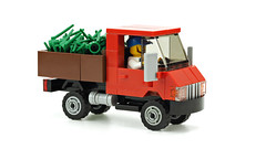 Red Truck (de-marco) Tags: lego town city truck car vehicle farmer red 4wide