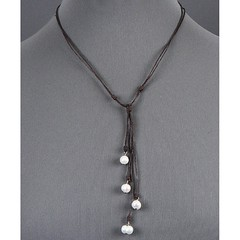 Lariat Brown Leather Freshwater Pearl Necklace (SeaSpray Jewelry) Tags: jewelry jewellery fashionjewelry fashion fashionista fashionbloger fashionblogger gift blogger styleblogger style necklace pearls lariat leather womens accessories trends trendy