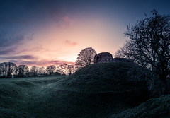 Wiston Castle Sunset (garethleethomas) Tags: castle sunset country landscape sky clouds wales uk old ancient history