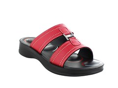 AeroThotic Sandal RED (firstSTREETonline) Tags: firststreet aging seniors olderadult boomers caretakers shoe sandal womens womans summer aerothotic cushioned support comfort orthoticstyle fashion firmsupport comfortable red