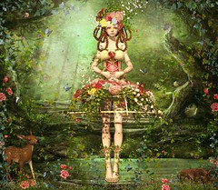 To Plant A Garden Is To Believe In Tomorrow (~* Pretty* ~) Tags: irrisistible shop event swank spring rose flower costume fancy sl secondlife second life women mesh gown outfit clothes fashion maitreya belleza slink hourglass appliers system wild leaves corset fantasy