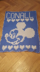 Mickey blanket for Conall (dochol) Tags: mickey mickeymouse disney hearts personalised name babyname babyblanket bebe crochet crochethook wool yarn blanket manta afghan crafts cute handmade homemade handcrafted graph chart