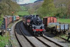 Glyndyfrdwy 020518 - DSC_0460 (Leslie Platt) Tags: exposureadjusted straightened denbighshire glyndyfrdwy heritagerailway 264tclass4mt 80072 1510exllangollen