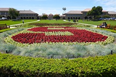 Stanford in flowers; Entrance to Main Quad in the background (ali eminov) Tags: paloalto california universities stanforduniversity s flowerbed