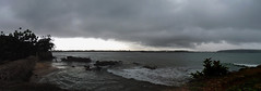 Galle - Tropical Storm Forming . . . (Drriss & Marrionn) Tags: travel srilanka ceylon southasia outdoor seaside tropics coastline galle coast sea city cityscape seascape seascapes pano panorama clouds sky ocean water bay waves wave darksky storm stormyweather shore landscape landscapes