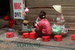 street food in morning - vendor