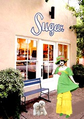 sugar (ladybumblebee) Tags: digitalart digitalcollage art collage vintagecollage woman dog bakery
