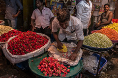 Vellore Flower Market. (Alip Roy) Tags: india tamilnadu vellore flower market
