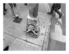 160514_1362_160514 150029_oly_S1_New York (A Is To B As B Is To C) Tags: aistobasbistoc usa newyorkstate newyork roadtrip travel olympus stylus1s monochrome bw blackwhite blackandwhite manhattan grandst mulberryst corner iholdwiththosewhofavorfire stencil art spraypaint streetlight pedestrians feet sidewalk walking city citylife urban detail footloose zebra crossing street streetart streetphotography aiweiwei bdwhite soho