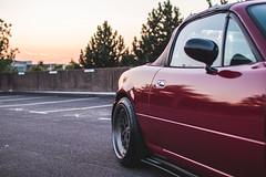 IMG_4531 (tom_acton) Tags: mazda mx5 eunos roadster red sparkle 3m cinder fifteen52 formula tr low sportscar jdm japanese sunset