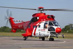 HB-XVY_EurocopterAS332C1_HeliSwissInternational_EGTR_Img01 (Tony Osborne - Rotorfocus) Tags: eurocopter as332 as332c1 super puma heliswiss international switzerland elstree airfield egtr 2018