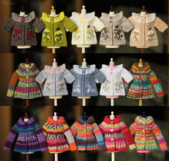 (Ulanna) Tags: blythe knitting handmade outfit clothes sweater cardigan pullover jersey