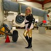 Helicopter Gunship (emmalouise tgirl) Tags: emma emmalouise tranny tgirl blonde leggins shiny boots heels pvc