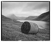 WastWater_RB67_HP5_02 (D_M_J) Tags: wast water wastwater lake district lakedistrict lakeland cumbria north west uk england wasdale landscape film camera medium format 6x7 roll 120 mamiya rb67 pro sd ilford hp5 plus 400 kodak hc110 epson v850 vuescan black white bw blackandwhite mono monochrome hey bale