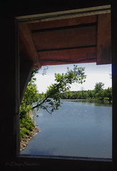 Looking down the Hoosic River on the Buskirk covered bridge (doug sinclair) Tags: hoosicriver hoosick buskirk covered bridge rensselaer county ny