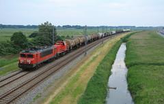 DB Cargo 1611+6454 @ Zalk (Sicco Dierdorp) Tags: db dbc cargo serie1600 serie6400 unitcargo ketelwagen keteltrein defensie containertrein militair vervoer onnen kijfhoek zwolle zalk kampen zuid hanzelijn lelystad