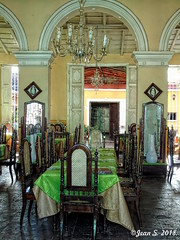 Dinner is ready (Jean S..) Tags: restaurant indoors food chairs tables trinidad cuba green yellow
