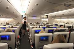 On Board British Airways A380 (A Sutanto) Tags: cabin view inside interior plane british airways a380 a388 upper deck premium economy class wolrd traveler plus attendant flight