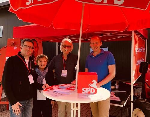 Mit der SPD Wiefelstede habe ich auf der Gewerbeschau Wiefelstede Präsenz gezeigt.