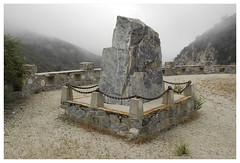 ANF_0092 (Thomas Willard) Tags: forest mountains stone rock monument angeles marker national foothills fog clouds abandoned chaparral