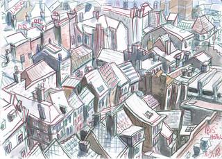 Dessiner Liège 2018 - Liège Rooftops © Detlef Surrey