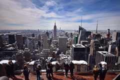 Top of the Rock (marinas8) Tags: nikon d5300 newyork empirestatebuilding esb sky people building city skyline