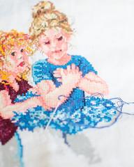 azul turquesa (inma F) Tags: actividad aguja azul bailarina bordado color colores coser hilo hogar macro muñeca stilllife turquesa embroider blue colour turquoise handmade doll stitch dancer girl children needle friends amigas home