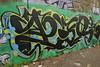 PEO (TheGraffitiHunters) Tags: graffiti graff spray paint street art colorful nj new jersey wall cement peo bum trail river walk