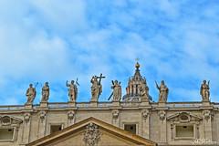 Blue SKY (M Malinov) Tags: blue sky sculpture vatican vaticano italy italia lazio roma rome roman италия ватикана рим apennine capital monument clouds europe eu