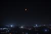 The Bloodshot Moon and a Slumbering City (Shourav3820) Tags: moon city night dhaka long exposure bangladesh dark bloodmoon adabor mohammadpur abiralhasib canon 1100d canon1785mm lighttrail