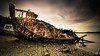 abandonné (flo73400) Tags: boat old landscape wreck longexposure poselongue paysage mer bretagne bateau