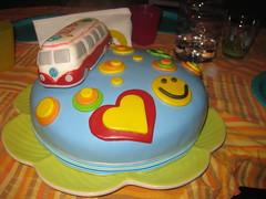 Torta Hippie (dolciefantasia) Tags: cake cakedesign torta pastadizucchero decorazione festa compleanno milano dolci fantasia hippie